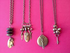 This Valentine's Day give someone the key to your heart. One of a kind vintage antique brass necklaces.