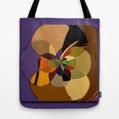 Digital purple flower art Tote Bag by LoRo  Art & Pictures - $22.00