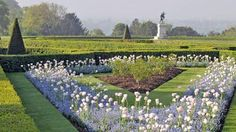 Fresh and beautiful: the spring planting scheme on the Parterre at Cliveden