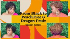 Changing My Hair Color From Black to PeachTree and DragonFruit with ORS ... Natural Hair Growth Tips, Natural Hair Regimen, Natural Hair Journey, Natural Hair Styles, Temporary Hair Color, Change Me, Hair Hacks, Healthy Hair, Curls