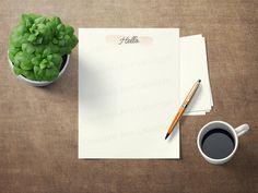Paper à lettre Hello imprimable format lettre 8.5x11, Hello printable writing paper letter size, stationary paper,papier à écrire à imprimer Etsy, Stationary Printable