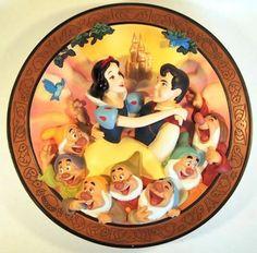 "Disney Snow White ""True love at last!"" decorative plate"