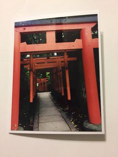 A personal favorite from my Etsy shop https://www.etsy.com/ca/listing/458492484/tori-gates-red-gate-tokyo-japanese