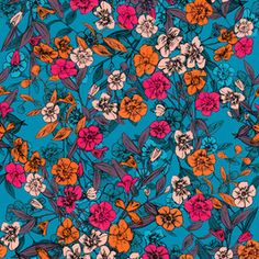 Graphic Floral Clash by Sarah Jane Woodward Seamless Repeat Royalty-Free Stock Pattern African Flowers, Print Patterns, Floral Design, Royalty, Spring Summer, Painting, Tropical Prints, Beautiful, Retro Print