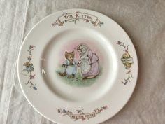 "Vintage Royal Albert Childs 8"" Plate / Tom Kitten / Beatrix Potter by SunshineVintageGoods on Etsy"