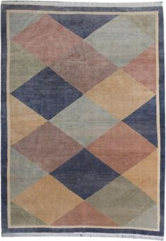 9x12' vintage art deco nepali rug - sfrugs.com , https://sfrugs.com/collections/all-available-vintage-antique-rugs/products/9x12-vintage-nepali-area-rug
