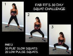 Squats- slow plié squats!  30 Day Fab Fit Squat Challenge!