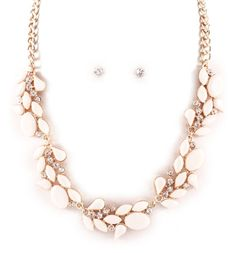 Meagan Necklace in Soft Ivory