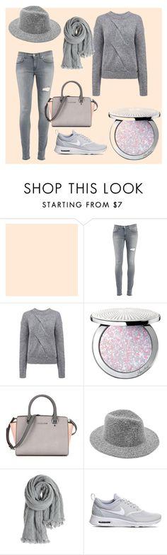 """grey mood"" by dashapavlovskaya on Polyvore featuring мода, Dondup, Pink Tartan, Guerlain, Calypso St. Barth, NIKE, women's clothing, women, female и woman"