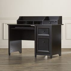 Found it at Wayfair - Lamantia Computer Desk with Keyboard Tray