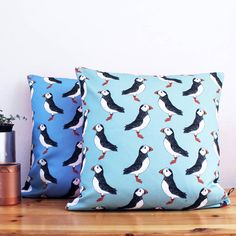 Are you interested in our Green Handmade Puffin Cushion? With our Puffin Cushion Nautical Gift for the home you need look no further.