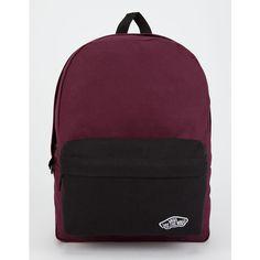 Vans 2 Tone Realm Backpack ($35) ❤ liked on Polyvore featuring bags, backpacks, pocket bag, padded bag, vans backpacks, knapsack bag and day pack backpack