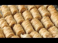 BAKLAVA ROLLS - It's easier than making squares - YouTube