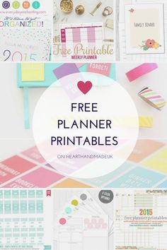 Diy Crafts Ideas : Free Planner Printables