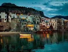 Beautiful harbor view of old houses in Cefalu    |   10 Top Rated Tourist Attractions In Sicily