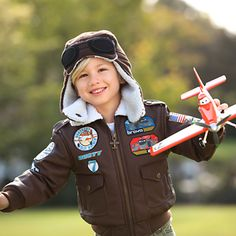 Planes Bomber Jacket for Boys   Fleece & Outerwear   Disney Store... this along with the matching hat would be perfect for a pilot costume!