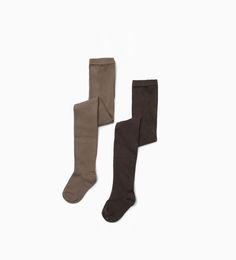 ZARA - KIDS - Pack of two plain tights