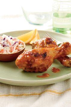 Clemson Orange Chicken Legs | Make a big play toward winning your tailgate division with these favorites. From grilled spicy hot dogs to a simmered pot of gumbo, there's something for everyone's time, tastes, and team.