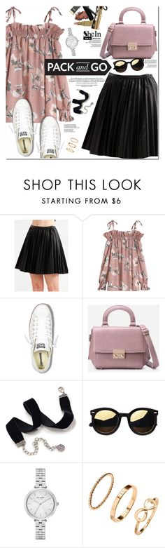 """""""Pack and Go: Labor Day"""" by oshint ❤ liked on Polyvore featuring Converse, Sweet Romance, Kate Spade, H&M, beautiful, Sheinside, Packandgo, laborday and shein"""