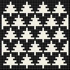 """Björk's Potholders-Patterns-Various"" - Knitting Charts Tapestry Crochet Patterns, Fair Isle Knitting Patterns, Potholder Patterns, Knitting Charts, Knitting Stitches, Knitting Designs, Cross Stitch Geometric, Tiny Cross Stitch, Cross Stitch Tree"
