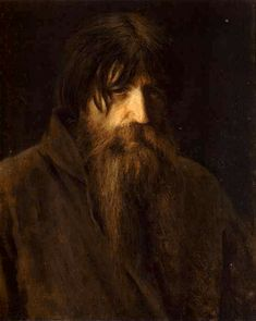 Head of an Old Peasant (study), 1874 Ivan Kramskoy