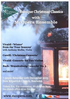 Join Music Co-OPERAtive Scotland at New Kilpatrick Church, Bearsden for an evening of beautiful music at their Christmas Concert!