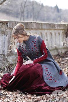 CHRISTMAS DISCOUNT! Little Red Riding Hood Coat Costume; woolen coat; fairy tale costume; riding hood costume