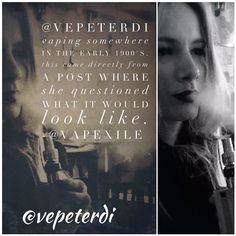 @vepeterdi questioned what vaping in the early 1900's would look like. Thus us what I envision. Not far from what she envisioned.  #vape #vapor #vaping #vapeart #vapeyou #vapecommunity #vapeon #vapestagram #vapenation #vapefamous #vapelife #vapedaily #vaperazzi #photography #photoofday #ig_shutterbugs #instamood #igmasters #photobomb #photoftheday #onlineart #creative #vapesirens #photoart #hsdailyfeature #theimaged #creativecommune #killeverygram #vapepics #iggood