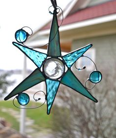 Mystic Moon Stained Glass Suncatcher by dortdesigns on Etsy