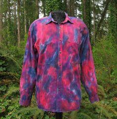 Shirt Mens Brittania Long Sleeve Tie Dye by ExperienceVintage1, $65.00