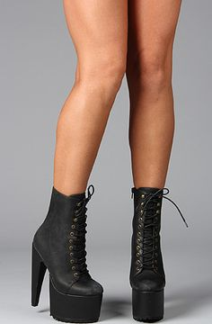 jeffrey campbell X human aliens go go boot in black washed leather $153.95