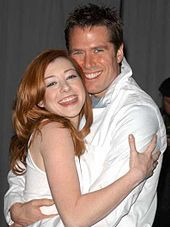 Alyson Hannigan and her hubby, Alexis Denisof. They have two daughters