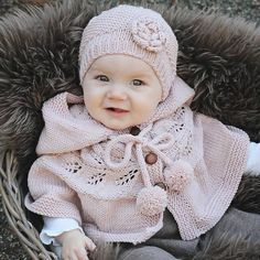 Baby Knitting Patterns Ravelry Ravelry: Autumn Poncho pattern by KlompeLompe by Torunn and Hanne Knitting For Kids, Baby Knitting Patterns, Baby Patterns, Knitting Projects, Crochet Projects, Poncho Patterns, Free Knitting, Clothing Patterns, Knit Baby Sweaters