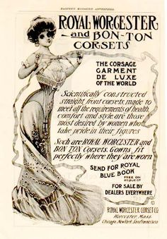 Royal Worcester and Bon-Ton Corsets advertisement 1903.