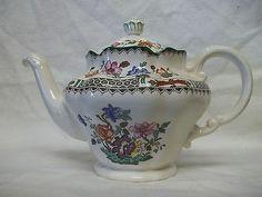 Spode Copeland Chinese Rose Tea Pot Teapot Vintage England Dinnerware