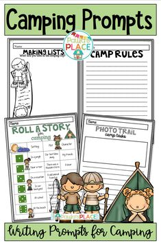Camping is so much fun – school camping trips even better! Here is your chance to write about what happened or make predictions about will happen. Daily 5 Activities, Guided Reading Activities, Sight Word Activities, Teaching Activities, Teaching Writing, Classroom Activities, Teaching Resources, Writing Posters, Writing Genres