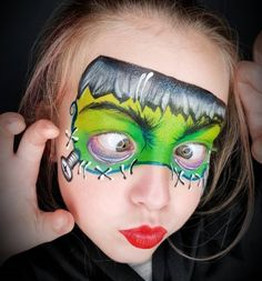 122 Colorful Creative Halloween Makeup Ideas Face Painting Halloween Kids, Halloween Makeup For Kids, Kids Makeup, Makeup Ideas, Halloween Ideas, Face Painting Designs, Body Painting, Creepy Costumes, Makeup Face Charts