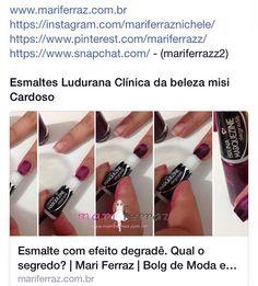 Post de hj sobre o esmalte degradê by Bruna Marquezine da marca Ludurana