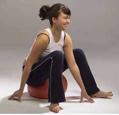 A Fluid Core: Redefining Core Strength C.    (Sitting up) Spiraling Exploration: Sit on a soft almost deflated ball (I like Slo-mo fitness balls) on the floor or on a flat chair.