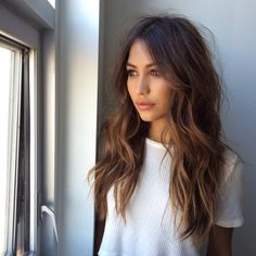 Loose waves for long hair.