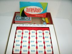 Jeopardy Game 8th Edition // Vintage 1960s // Etsy // LoveVintageAlways