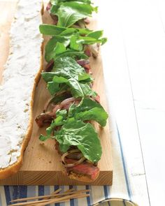 QUICK DINNER IN FRONT OF THE TV RECIPES: Grilled Steak Sandwiches with Goat Cheese and Arugula