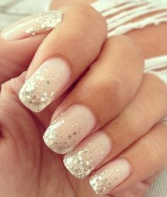 Glitter gel nails. My next venture.