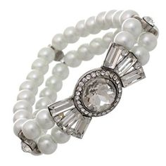 Art Deco White Faux Pearl Bracelet - Sophisticated Bridal Jewelry *** Want additional info? Click on the image.