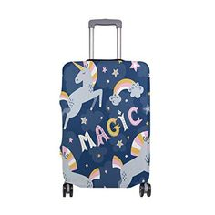 e8e2860f2 ISAOA Unicorn Magic Travel Luggage Cover Elastic Suitcase Protective Cover  Luggage Trolley Case Cover Protector Size Fits 18-32 inches