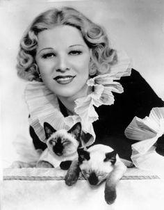 Glenda Farrell and Kitty Cats
