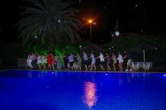 Dancing in the rain! At Spiti Prifti Pool Area
