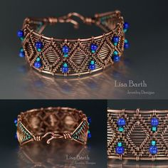 This one was a bit complicated but I so enjoy wire weaving that I love the challenge of it. It sold the first day on etsy. I am so grateful, thank you! Lisa Barth