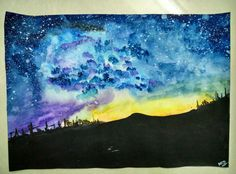 When you are mad AF, and decide to paint it all out!  #stressbusters #colors #books #writing #music #today #watercolors #painting #starrynight #messcleaner #galaxg #imagination #reflections #fantasy #stars #nofilter