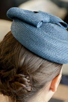 Bibi Carlita bleu canard en paille cousue